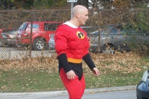 Me dressed up as Mr. Incredible!