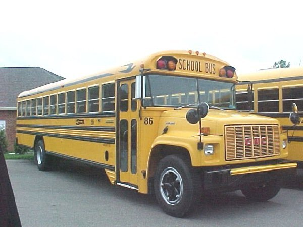 A look at a full size, 25,000 pound, school bus.