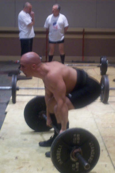 warming up for deadlifts