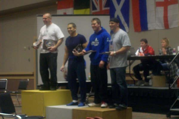 The medal podium